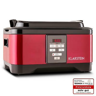 Sous Vide Machine Slow Cooker Professional Restaurant Steak Chicken Compact Red