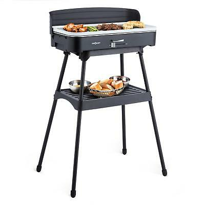 Free Standing Electric Grill Bbq Stand Fish Meat Vegetable Garden Home Shop Food
