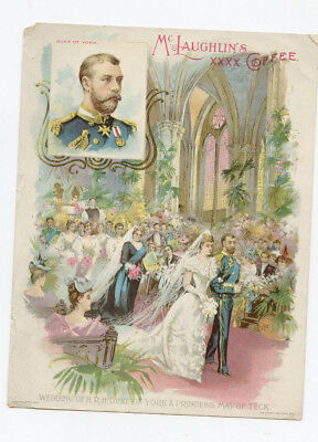 Mc Laughlin's Coffee Advertisment  King George V Queen Mary of Great Britain