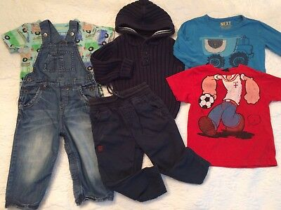 Baby Boys Next Clothes Bundle Age 18-24 Months Jumper Dungarees Trousers Tops