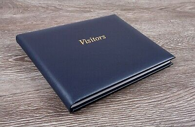 Deluxe High Quality UK Leather Visitors Guestbook For Hotels Guest House B&B New