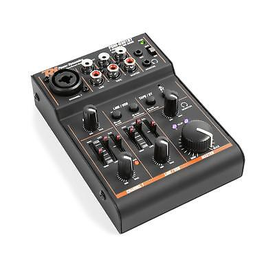 Power Dynamics PDM-D301BT 3-Channel Mixer USB Mixer Bluetooth Phantom Power