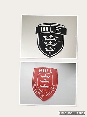 """Hull Kingston Rovers 8"""" HULL FC 7"""" Stencil easy clean pp Plastic not card"""