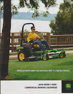 John Deere 7-Iron Commercial Mowing Equipment Advertising Brochure