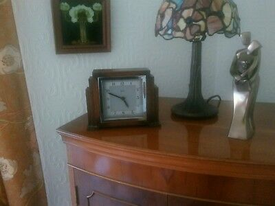 Art Deco Wooden Clock.   Bentima   made by John D Francis.