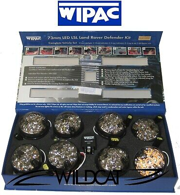 Land Rover Defender Wipac Smoke Led Light Lamp 73Mm Lens Upgrade Kit Set