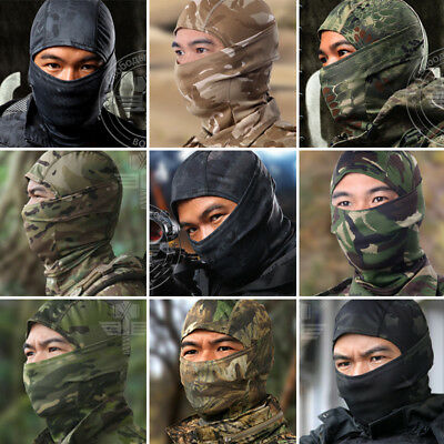 Face Mask Tactical Camouflage Full Balaclava Hood Scarf Quick Drying Military