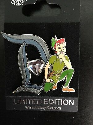 Disney Pin Peter Pan LE Diamond Celebration Pin of Month 2015 Limited Edition