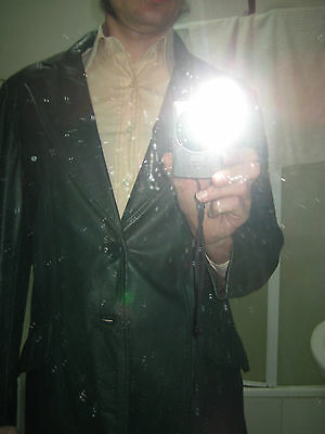 Classic Vintage Green Genuine Leather Jacket - Med Large- Fight Club RETRO