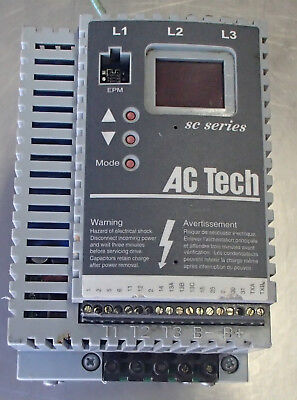 AC Tech Variable Speed 5hp AC Motor Drive SF250 Used Cut Out