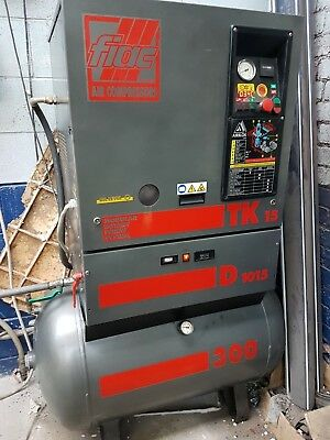 Air Compressor Fiac Rotary Screw garage Workshop £1666.67 excl vat. 3 phase