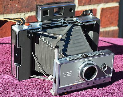 Polaroid 240 Camera w/ Manual, New AAA Battery Converter, Film TESTED Clean!