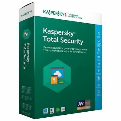 Kaspersky Total Security 2017 / 2018 1 Device - 1 year key full version