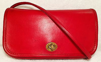Vintage COACH Dinky Bag, 9375, Red, Made in New York City
