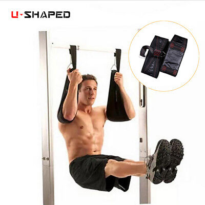 New Abdominal Fitness AB Slings Pull Up Hanging Straps Resistance Bands Strength