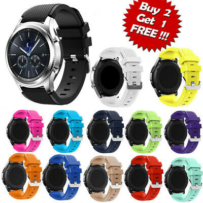 US Sport Rubber Silicone Replacement Wrist Band For Samsung Galaxy Gear S3 xi