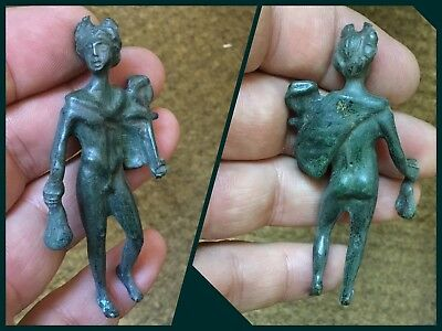 Rare Superb Bronze Statuette Of Young Mercury Winged Petasos C1st 3rd Cent AD