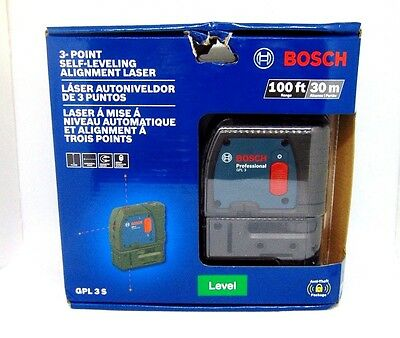 Bosch 3-Point Self-Leveling Alignment Laser GPL3S
