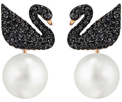 Swarovski Crystal ICONIC SWAN Pierced Earrings Jacket 5193949