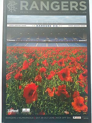 Rangers v Kilmarnock Ladbrokes Premiership 29/10/2016 Mint condition.