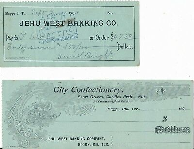 Beggs Indian Territory Check Pair