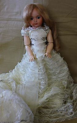 Reproduction Bisque Head Compo body French Jumeau antique doll by Linda Amson