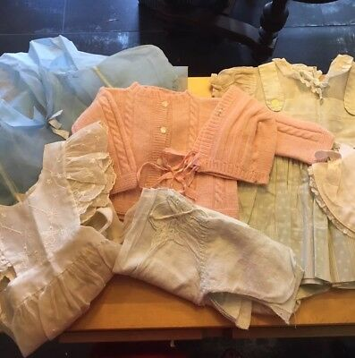Lot of Antique Baby Clothes