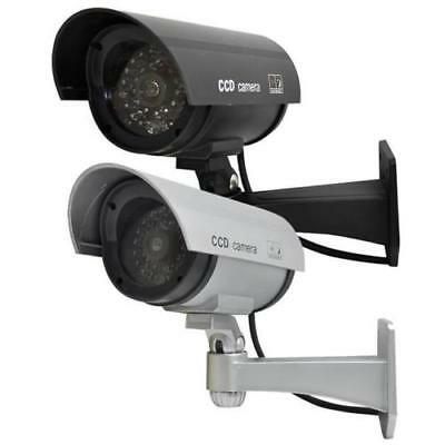 Fake Dummy CCTV Security Camera, Flashing LED, Indoor & Outdoor Surveillance -GN