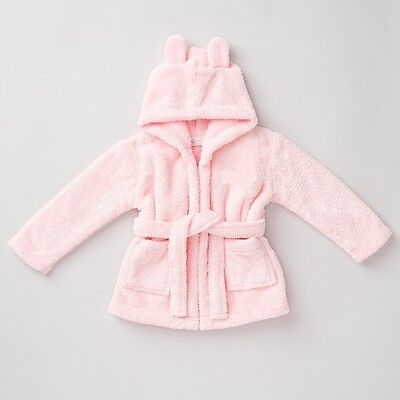 Girls Hooded Fleece Robe - Pink - Personalised 'Avaleen' - Age 1-2  - Box6702 J