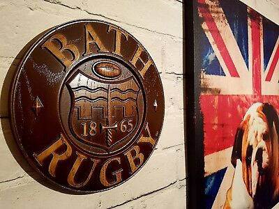 BATH RUGBY   Wood Carving Crest Logo