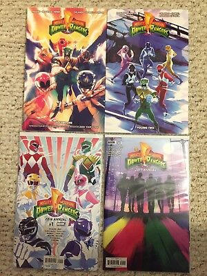 Power Rangers Trades and Annaul Mighty Morphin 2016 and 2017 Boom Studios Comics