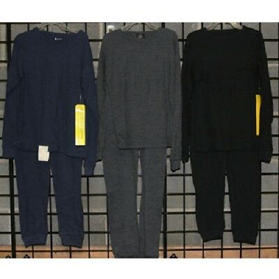 Boys sizes 4-14 l00% cotton solid color thermal pajamas 24pcs. [B418THPJ]