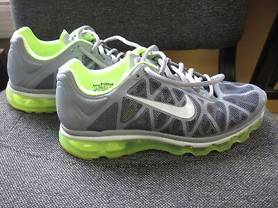 Nike Air Max Women's Neon-Green/Gray Athletic Running Shoes Sz 9 - 429890-017