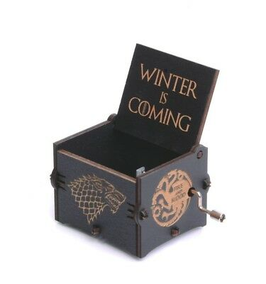 Wooden Engraved Music Box Game Of Thrones Main Theme Winetr Is Coming