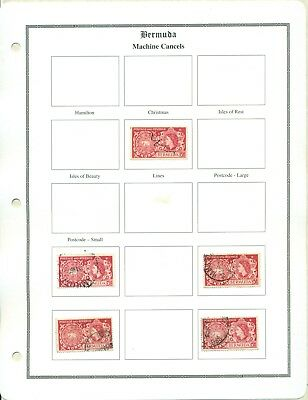 Lot 854 Bermuda 1952 Series 5/- Town Cancels On Bermuda  Specialized Pages New