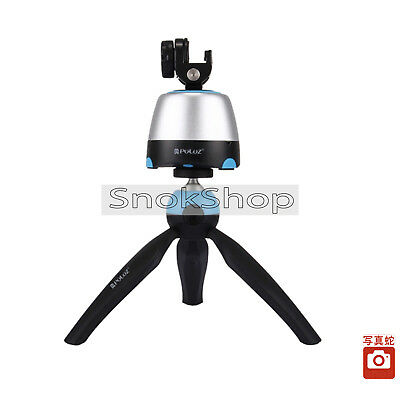 Electronic 360 Degrees Rotating Panorama Tripods Head + Tripod Mount Gopro Clamp