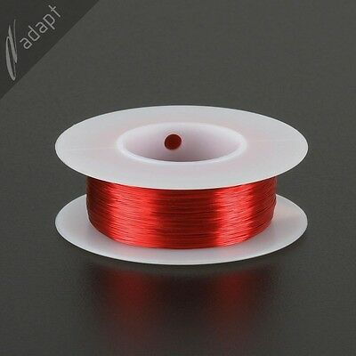 Magnet Wire, Enameled Copper, Red, 32 AWG (gauge), SPN, 155C, 1/8 lb, 613 ft