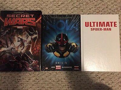 Marvel Comics Secret Wars Nova Ultimate Spider Man Hardcover Comics FS