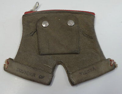 Vintage LEDERHOSEN CHANGE PURSE a Souvenir of Vienna from the 50's