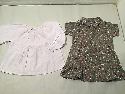 Two Adorable Little Items For Girls Age 2  - White Company Blouse + Dress - Vr