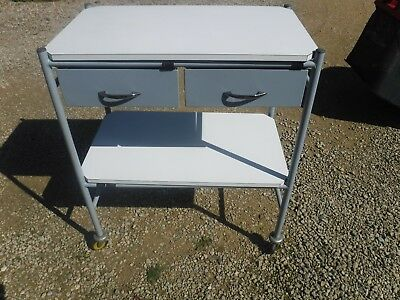 Bristol Maid Mobile Quality Trolley 2 Drawers & Shelves Kitchen/Medical/Office
