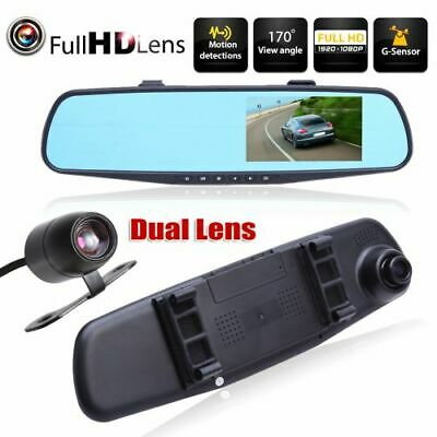 Specchietto retrovisore con 2 telecamere - Dash Cam DVR Full HD - retromarcia