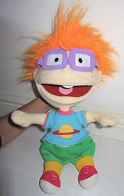 "Official Nickelodeon Rugrats Chuckie Plush 15"" Hand Puppet Soft Toy"