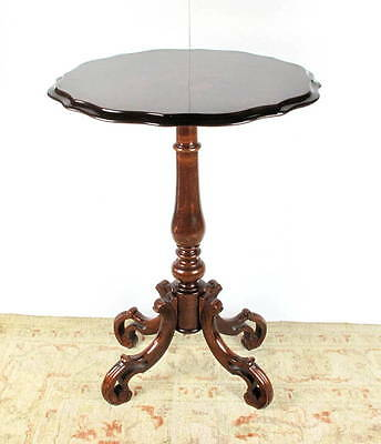 A Victorian inlaid marquetry mahogany wine table
