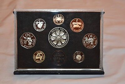 Guernsey Proof Set 1986 Only 2500 Minted Includes 2 Pound Sterling Silver Coin