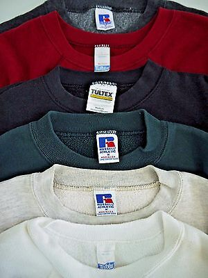 LOT-6 VINTAGE 80s 90s mens S/M blank SWEATSHIRT made in USA single v distressed