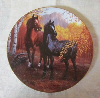 """'The Spirit of the Mustang' Plate Collection by Chuck DeHaan:  """"Autumn Respite"""""""
