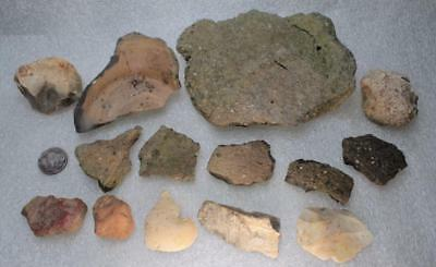 fantastic large collection with very rare raddle european Neolithic ca. 4-5000BC