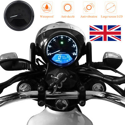 52mm LCD Digital Motorcycle Odometer Speedometer Tachometer MPH Gauge For Boat