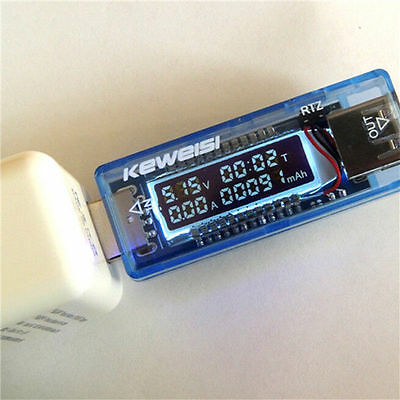 Keweisi 3v-9v 0-3a USB Charger Power Battery capacity TESTER Voltage Current